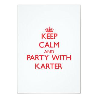 Gardez le calme et la partie avec Karter Cartons D'invitation