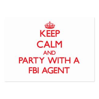 Gardez le calme et la partie avec un agent du FBI Carte De Visite Grand Format