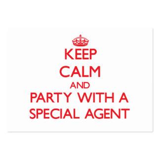 Gardez le calme et la partie avec un agent spécial cartes de visite professionnelles