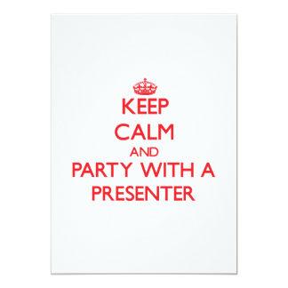Gardez le calme et la partie avec un présentateur faire-parts