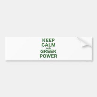 Gardez le calme et la puissance autocollant pour voiture