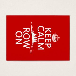 Gardez le calme et la rangée sur (choisissez cartes de visite