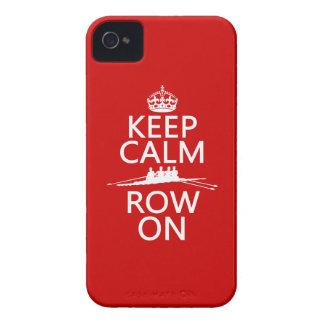 Gardez le calme et la rangée sur (choisissez coques Case-Mate iPhone 4