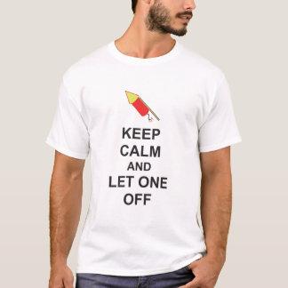 GARDEZ LE CALME et LAISSEZ UN OUTRE de la nuit Guy T-shirt