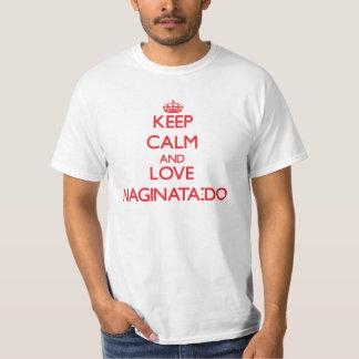 Gardez le calme et l'amour Naginata-Font T-shirt