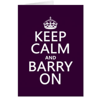 Gardez le calme et le Barry sur (toute couleur Carte De Vœux