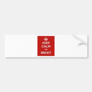 Gardez le calme et le Brexit Autocollant De Voiture