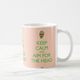 Gardez le calme et le but pour la tasse principale