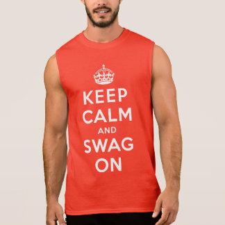 Gardez le calme et le butin dessus t-shirt sans manches