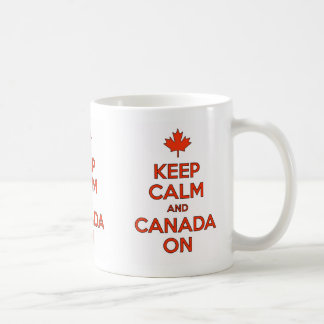 Gardez le calme et le Canada sur la tasse