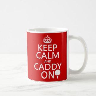 Gardez le calme et le chariot dessus, golf mug