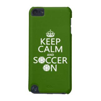 Gardez le calme et le football dessus coque iPod touch 5G