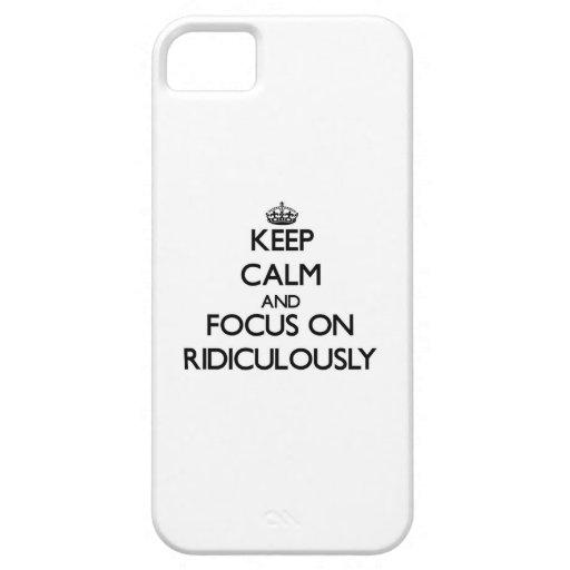 Gardez le calme et le foyer dessus ridiculement coques iPhone 5