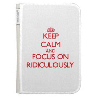 Gardez le calme et le foyer dessus ridiculement coques folio kindle