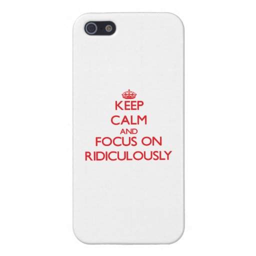 Gardez le calme et le foyer dessus ridiculement iPhone 5 case