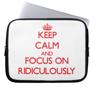 Gardez le calme et le foyer dessus ridiculement trousses pour ordinateur portable