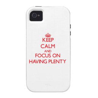 Gardez le calme et le foyer sur avoir l'abondance coque Case-Mate iPhone 4