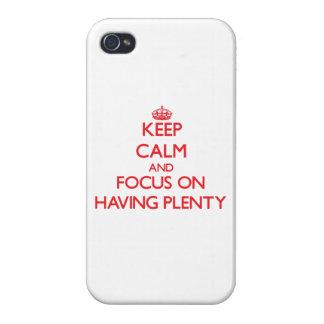 Gardez le calme et le foyer sur avoir l'abondance étui iPhone 4/4S