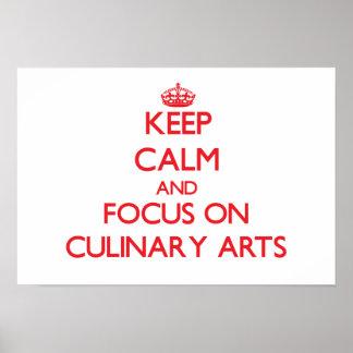 Gardez le calme et le foyer sur des arts culinaire poster