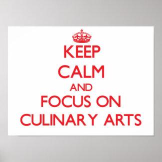 Gardez le calme et le foyer sur des arts posters