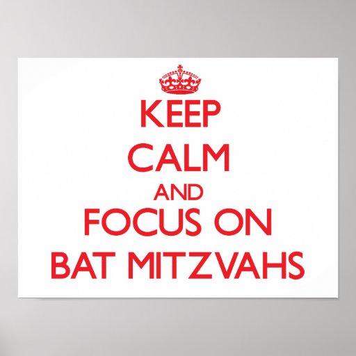 Gardez le calme et le foyer sur des bat mitzvah posters
