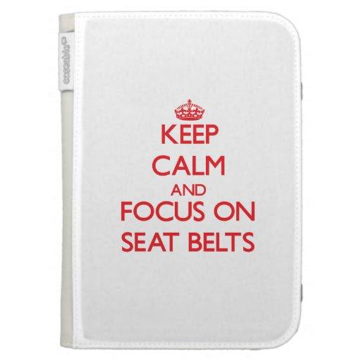 Gardez le calme et le foyer sur des ceintures de coque folio kindle