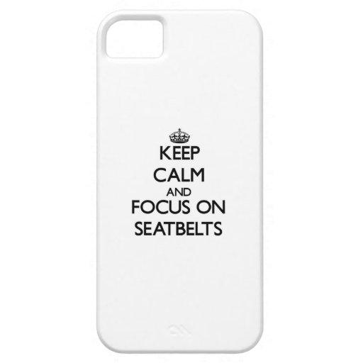 Gardez le calme et le foyer sur des ceintures de s coque Case-Mate iPhone 5