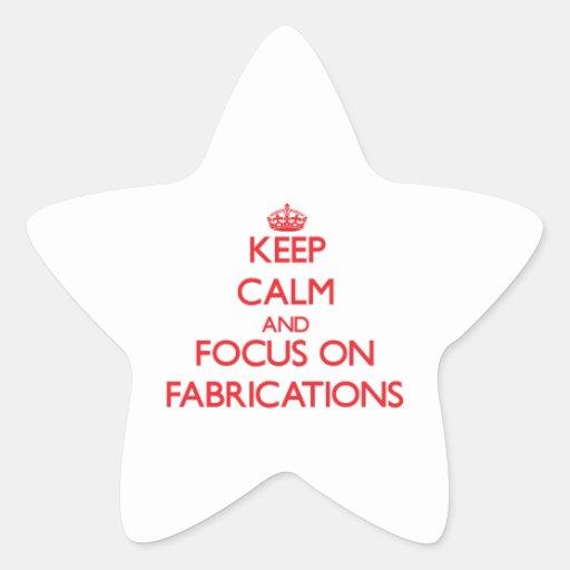 Gardez le calme et le foyer sur des fabrications sticker en étoile