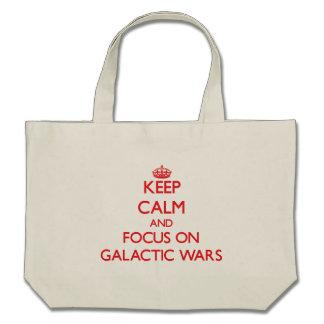 Gardez le calme et le foyer sur des guerres sacs fourre-tout