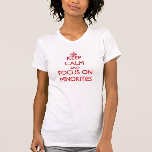 Gardez le calme et le foyer sur des minorités t-shirt