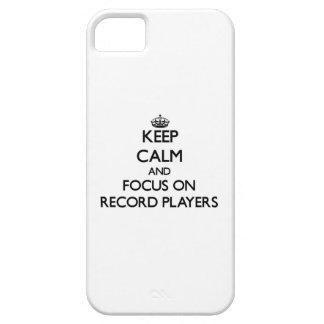 Gardez le calme et le foyer sur des tourne-disques coque iPhone 5 Case-Mate