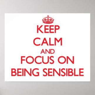 Gardez le calme et le foyer sur être raisonnable posters
