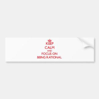 Gardez le calme et le foyer sur être rationnel adhésifs pour voiture