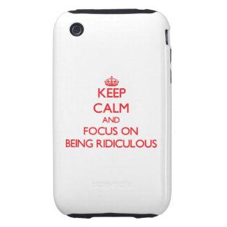 Gardez le calme et le foyer sur être ridicule coque tough iPhone 3