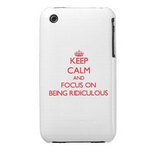 Gardez le calme et le foyer sur être ridicule coques iPhone 3