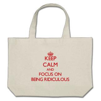 Gardez le calme et le foyer sur être ridicule sac fourre-tout
