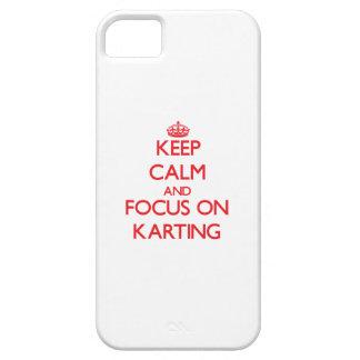 Gardez le calme et le foyer sur Karting Coque iPhone 5 Case-Mate