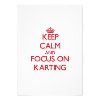 Gardez le calme et le foyer sur Karting Faire-part Personnalisé