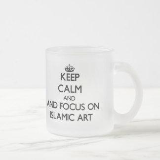 Gardez le calme et le foyer sur l art islamique mugs à café