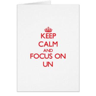 Gardez le calme et le foyer sur l ONU Cartes De Vœux