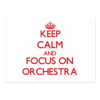Gardez le calme et le foyer sur l orchestre
