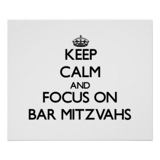 Gardez le calme et le foyer sur la barre Mitzvahs Posters