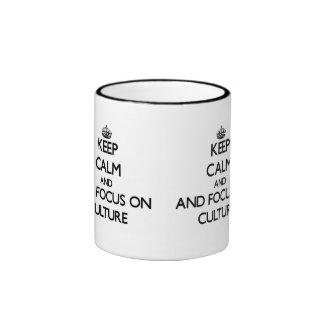 Gardez le calme et le foyer sur la culture mugs