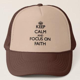 Gardez le calme et le foyer sur la foi casquette