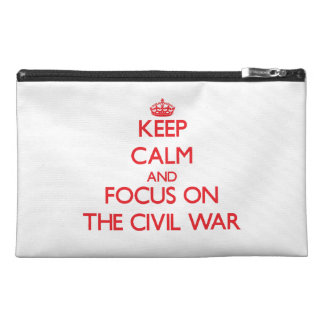 Gardez le calme et le foyer sur la guerre civile trousses de voyage