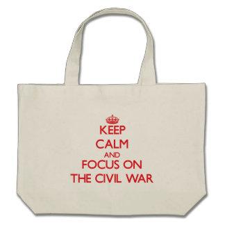 Gardez le calme et le foyer sur la guerre civile sacs fourre-tout