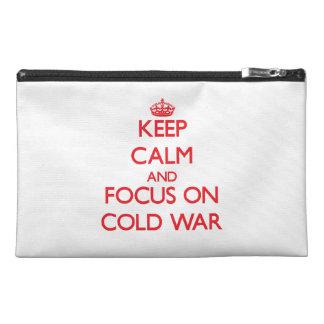 Gardez le calme et le foyer sur la guerre froide trousses à accessoires de voyage