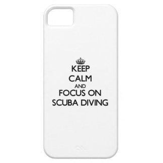 Gardez le calme et le foyer sur la plongée à l'air étuis iPhone 5