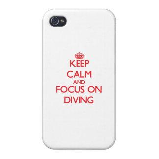 Gardez le calme et le foyer sur la plongée coque iPhone 4/4S