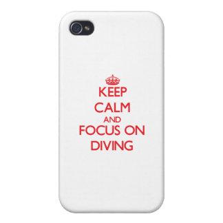 Gardez le calme et le foyer sur la plongée étui iPhone 4